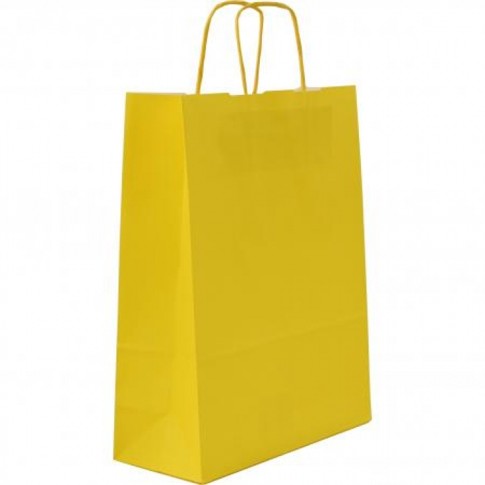 Borsette colore giallo su kraft bianco con maniglia carta for Oggetti di colore giallo